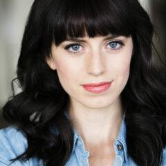 Jessica Lynn Parsons theatrical headshot blue shirt